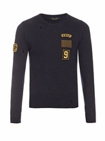 Marc Jacobs Patch-appliqué crew-neck wool sweater