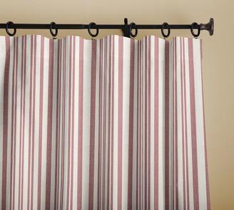 Pottery Barn Antique Stripe Print Linen/Cotton Rod Pocket Curtain