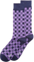 Bar III Men's Gingham Socks, Only at Macy's