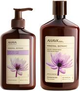 Ahava Lotus Flower and Chestnut, for Sensitive Skin[br]Velvet Body Cream Wash & Lotion Set