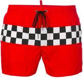DSQUARED2 checkerboard swim shorts - men - Nylon/Spandex/Elastane - 48