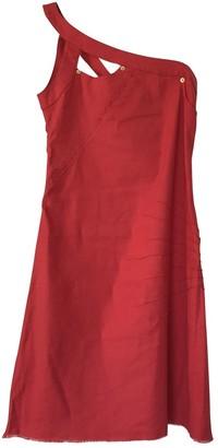 Iceberg Red Linen Dress for Women