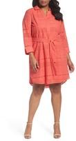 Foxcroft Plus Size Women's Taylor Eyelet Shirtdress