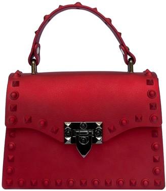 Delayne Dixon Rebel Rich Bag Studded Vegan Leather in Red