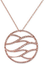 Effy Final Call Diamond Pendant Necklace (1/2 ct. t.w.) in 14k Rose Gold