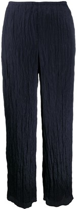 Vince Creased Straight-Leg Trousers