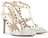 Valentino Garavani Rockstud Camustars Crystal-embellished Leather Pumps