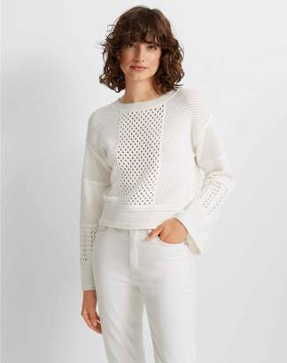 Club Monaco Mix Stitch Bell Sleeve Sweater