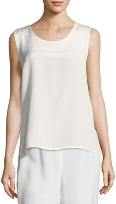 Caroline Rose Long Silk Crepe Tank