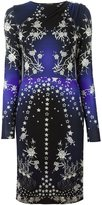 Roberto Cavalli star print long sleeve knit dress - women - Viscose - 42