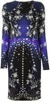 Roberto Cavalli star print long sleeve knit dress