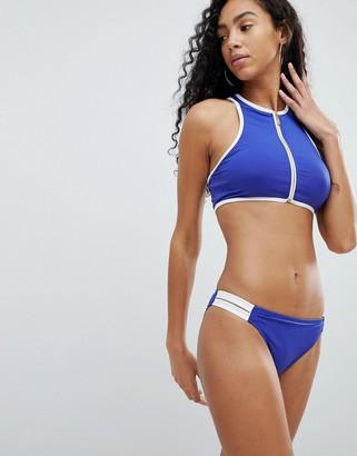 Juicy Couture Bikini Bottoms With Slogan-Blue