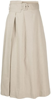 Fabiana Filippi Belted Waist Flared Style Skirt