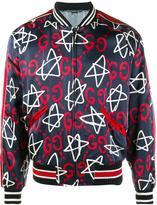 Gucci GucciGhost star bomber jacket - men - Silk/Cupro/Viscose - 46