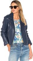 Parker Easton Leather Jacket in Blue
