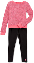 U.S. Polo Assn. Fuchsia Top & Black Leggings - Infant Toddler & Girls