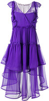 Alberta Ferretti layered sheer dress - women - Silk - 38