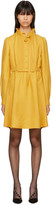 Valentino Yellow Pleated Bow Dress