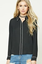 Forever 21 FOREVER 21+ Buttoned Contrast-Trimmed Shirt