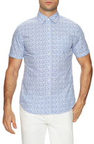 Jack Spade Clift Short Sleeve Point Collar Floral Sportshirt