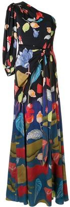 Peter Pilotto floral one-shoulder dress