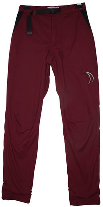 J.W.Anderson Burgundy Polyester Trousers