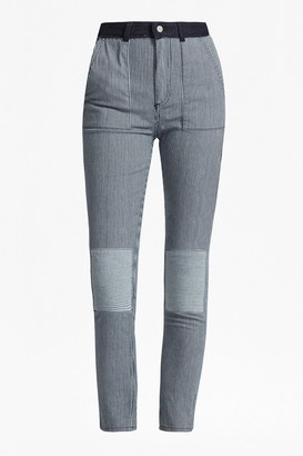 French Connection Stripe Mash Up Skinny Jeans
