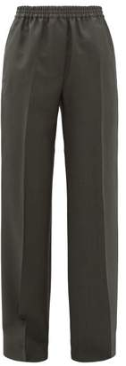 Acne Studios Pammy Wool-blend Wide-leg Trousers - Womens - Green