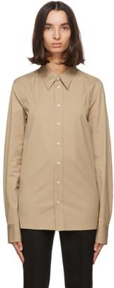Bottega Veneta Beige Cotton Poplin Shirt