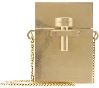 Oscar de la Renta Gold Metal Mini Alibi Bag