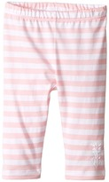 Fendi Striped Leggings w/ Floral Logo Detail (Infant)