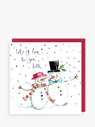 Louise Mulgrew Designs Mr & Mrs Snowman Christmas Card