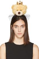 Dolce & Gabbana Beige Crowned Teddy Bear Headband