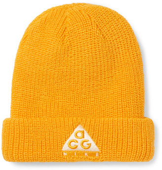 Nike ACG Logo-Embroidered Ribbed-Knit Beanie - Men - Yellow