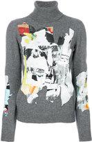 Moschino Printed Turtle-neck Wool Sweater