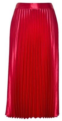 Dorothy Perkins Womens Pink Satin Pleat Skirt, Pink