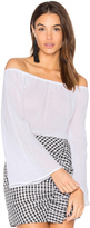 Bobi Gauze Off Shoulder Top