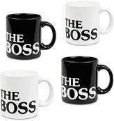 """Konitz The Boss"""" Mugs (Set of 4)"""