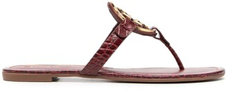 Tory Burch Logo Plaque Sandals