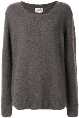 Hermes Pre-Owned textured relaxed jumper