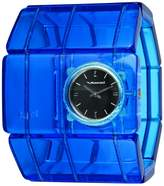 Vestal Women's RSA017 Rosewood Acetate Translucent Blue Bangle Watch