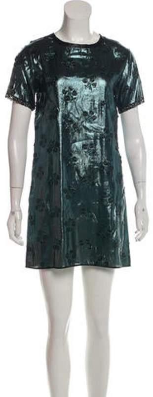Marc Jacobs Short Sleeve Mini Dress w/ Tags Green Short Sleeve Mini Dress w/ Tags