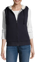 SJB ACTIVE St. John's Bay Active Quilted Vest with Plush Lining- Talls
