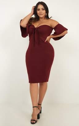 Showpo Guest Edit Dress in wine - 6 (XS) Dresses