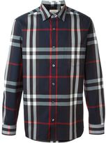Burberry checked shirt - men - Cotton/Polyamide/Spandex/Elastane - XS