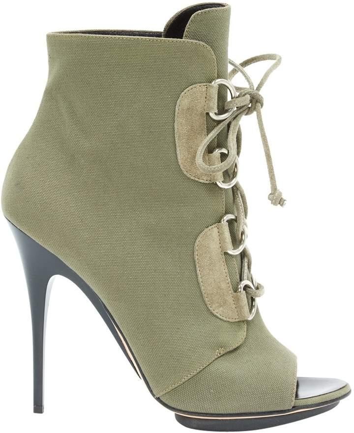 Giuseppe Zanotti Cloth lace up boots