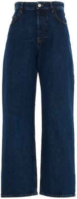 Balenciaga Wide-Leg Cropped Jeans