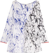 Lemlem Hana split-front printed silk-crepe coverup
