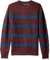 Nautica Men's Breton Long Sleeve Stripe Sweater