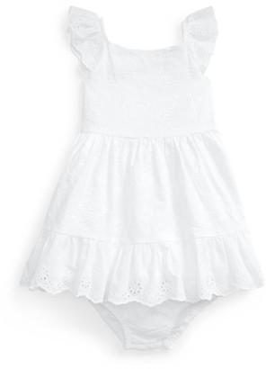 Ralph Lauren Eyelet-Trim Dress & Bloomer